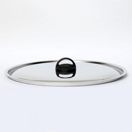 Coperchio inox piano con fascetta